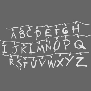 Stranger Things Alphabet T-Shirts