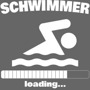 Schwimmer loading... Baby Motiv