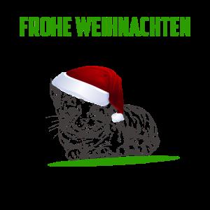Frohe Weihnachtskatze