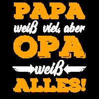 Papa weiß viel, aber Opa weiß Alles