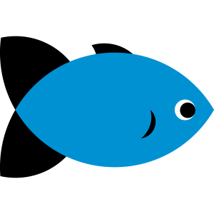 Fish - Blue & Black