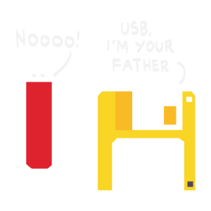 USB I am your Fahter Nerd Computer PC Gamer