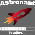 Astronaut loading... Baby Motiv
