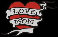 Muttertag Shirt: love_mom_vecrtor