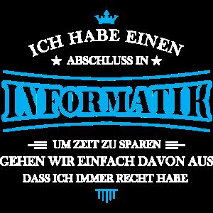 Informatik Shirt-Abschluss