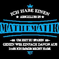 Mathematik Shirt-Abschluss