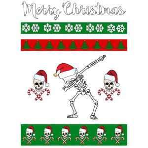 Merry Christmas - Ugly Sweater - Skelett Weihnacht