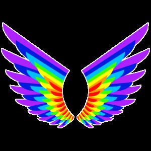 Regenbogen-Engelsflügel