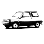 Save the panda (white printed text)