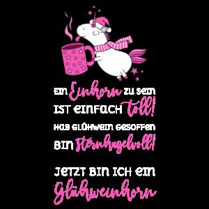 Glühweinhorn sternhagelvoll toll Spruch pink ws