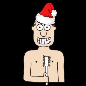 Weihnachten   Gästezahnbürste Klobürste Gast Gäste