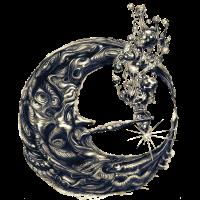 Mond mit Pfeife