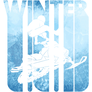 Retro Winterurlaub. Schneemobilfahren.Weihnachtsgeschenke