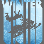 Retro Vintage Winter Holiday Sports.Snowmobile.
