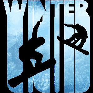 Vintage Winterurlaub Sport. Snowboard Geschenke.