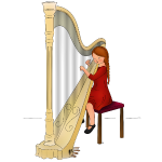 child playing harp