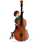 child playing doublebass