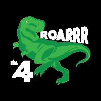 4. Geburtstag Dinosaurier T-Shirt Geschenk