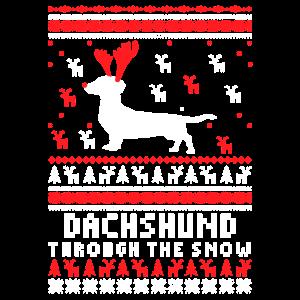 Dackel-Weihnachtshemd