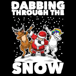 Dabbing Santa Dabbing Einhorn Weihnachten Geschenk