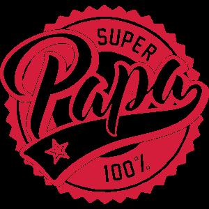 100% Super Papa - Vatertag - Dad - Kind - Geschenk