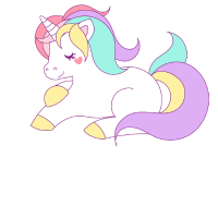 Unicorn yoga t-shirt colorful_2