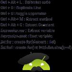 raccourcis android studio