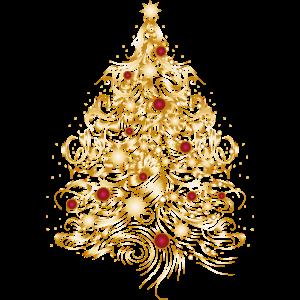 Weihnachtsbaum in Gold