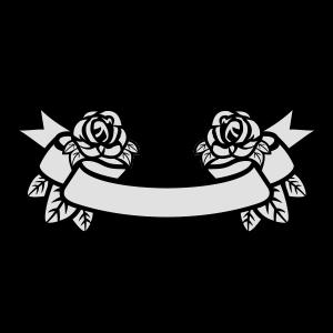 Band mit Rosen