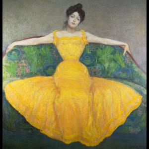 """"""" Dame in gelbem Kleid"""" von Max Kurzweil"""