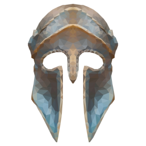 Gladiatorenhelm Low-Polygon-Effekt