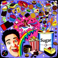 Zucker Regenbogen Einhorn Süßigkeit Schleckermaul