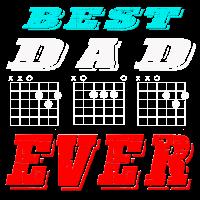 BEST DAD EVER Geschenk fuer den Gitarren Vater