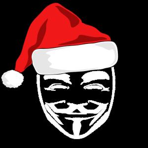 Anonymous Maske Weihnachtsmann