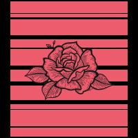 Geriebene rote Blume