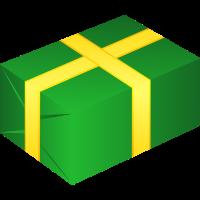 Geschenk Grün