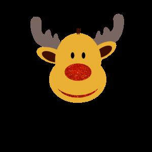 rentier mit roter Nase
