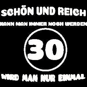 30. Geburtstag: Lustiger Spruch