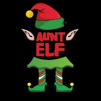 Aunt Tante Elf Weihnachten Familie Geschenk Xmas