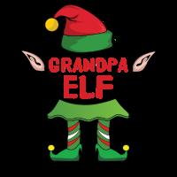 Grandpa Elf Weihnachten Familie Geschenk Xmas Gift