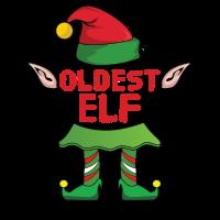 Oldest Elf Weihnachten Familie Geschenk Xmas Gift