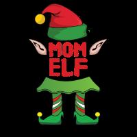 Mom Mama Elf Weihnachten Familie Geschenk Xmas