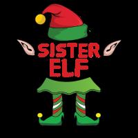 Sister Schwester Elf Weihnachten Familie Geschenk