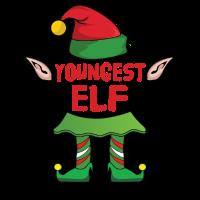 Youngest Elf - Weihnachten Familie Geschenk Xmas