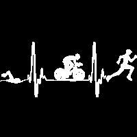 Triathlon Tshirt Geschenk Evolution Männer