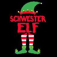 Schwester Elf Weihnachten Familie Geschenk Xmas