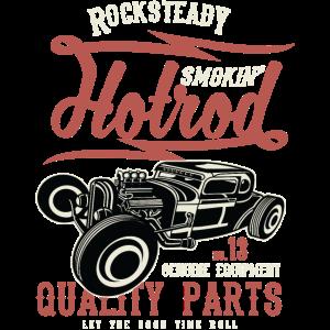 ROCKSTEADY HOTROD - Vintage Hotrod Geschenk Shirt