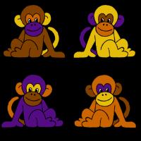 vier monkeys