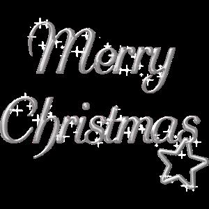 Merry Christmas Weihnachtsmotiv silber Schrift