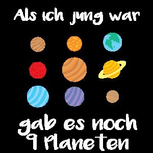 Als ich jung war, gab es noch 9 Planeten